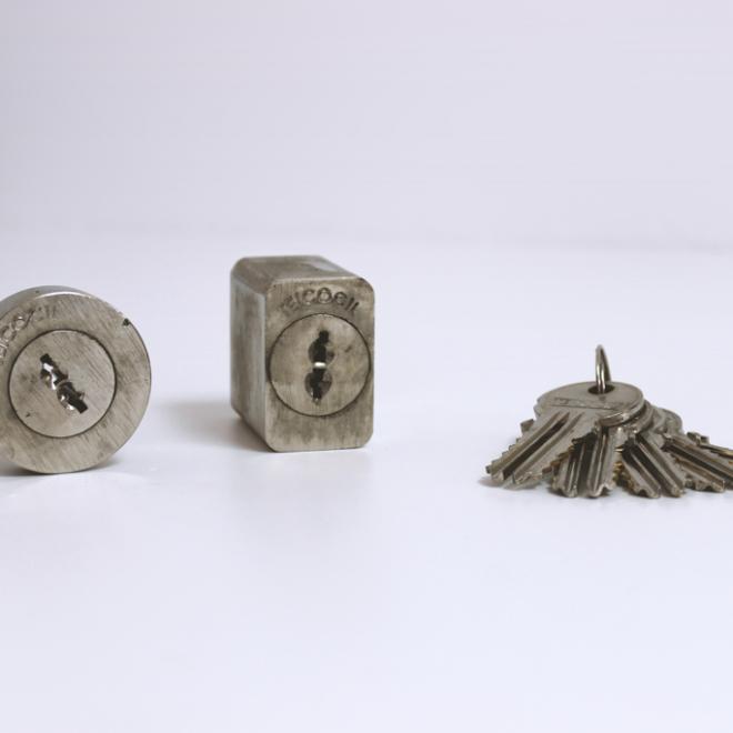 Conjunto de canhões para fechadura TEICOCIL 249/2 (2 entradas)