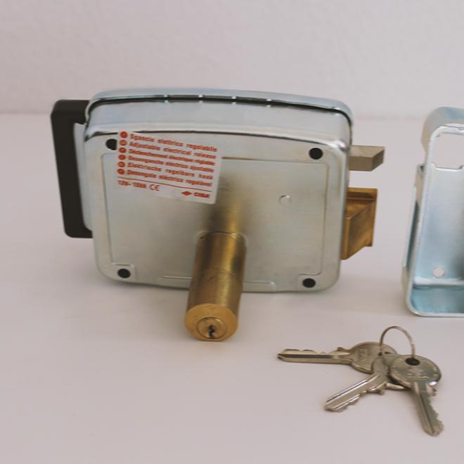 Fechadura ou Trinco elétrico CISA chave/chave-botão; ref.11931